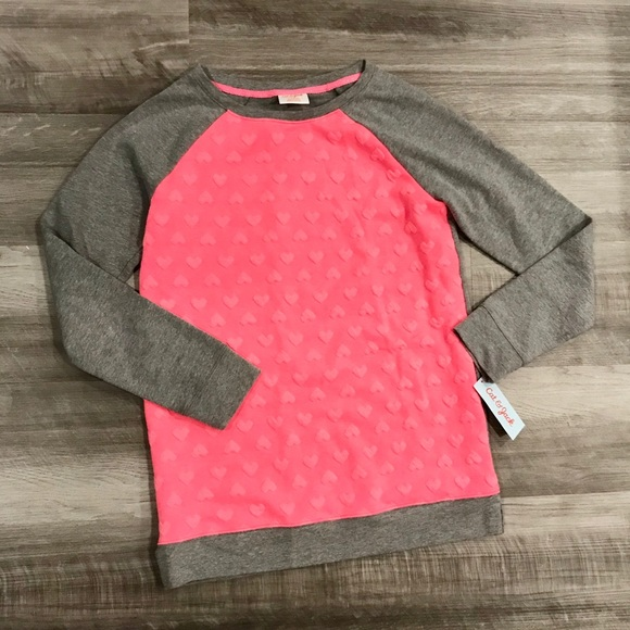 Cat & Jack Other - Valentine's Little Girls Heart Pullover Sweater